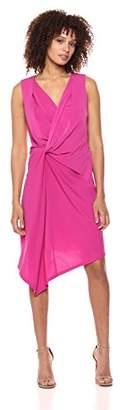 Ellen Tracy Women's Twisted Front Sleeveless Dress