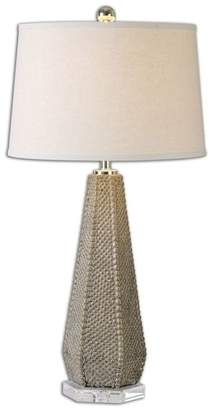 Uttermost Pontius Taupe Table Lamp