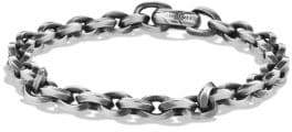 David Yurman Knife Edge Sterling Silver Link Chain Bracelet