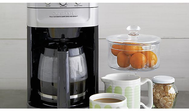 Crate & Barrel Cuisinart ® Grind and Brew 12 Cup Coffee Maker