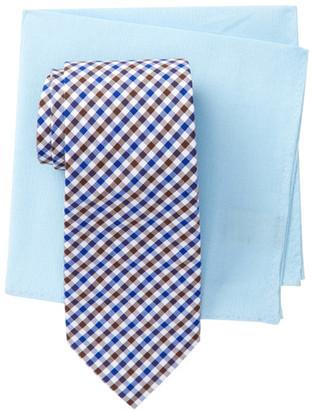 Alara Mercury Check Tie & Pocket Square Box Set $95 thestylecure.com