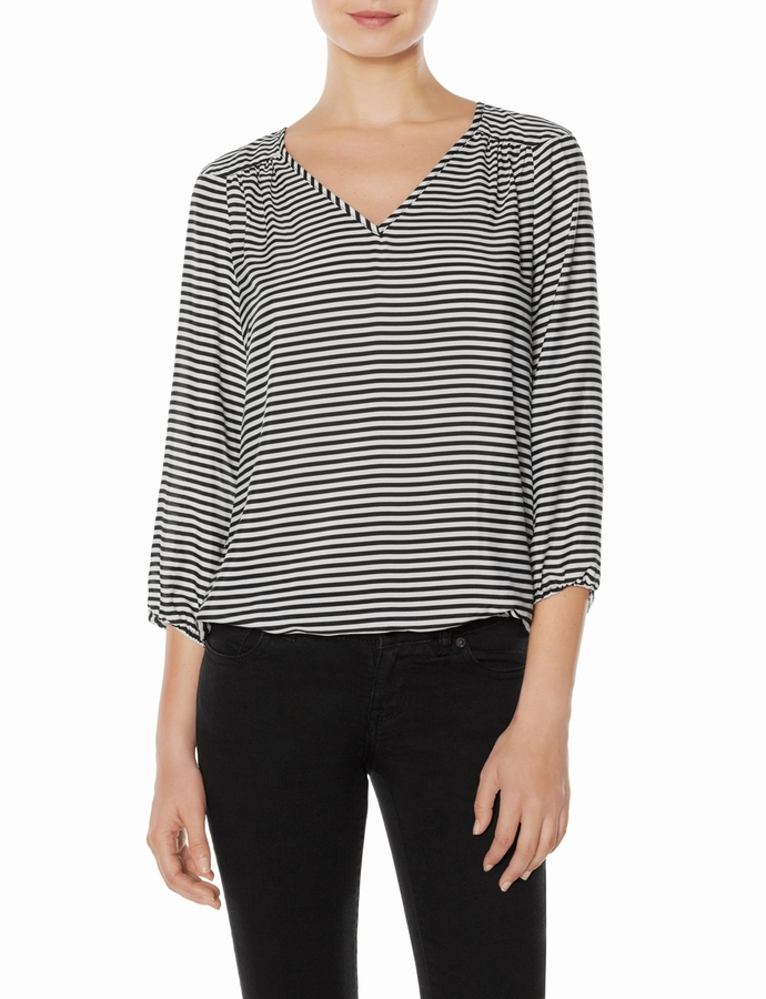 The Limited Striped Blouson Top