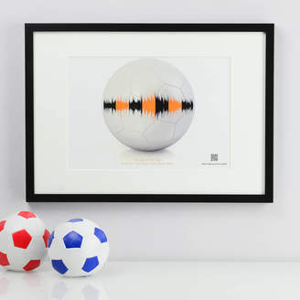 MixPixie Personalised Football Soundwave Print With Music
