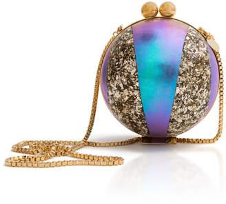 Marzook Gold Holograph Orb Shoulder Bag