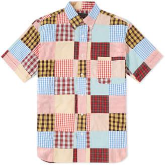 Beams Short Sleeve Patchwork Shirt
