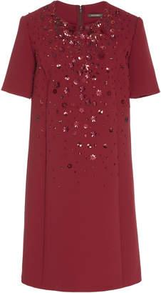 Zac Posen Flower Medley Crepe Midi Dress