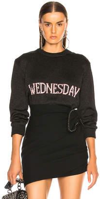 Alberta Ferretti Wednesday Lurex Crewneck Sweater