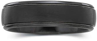 JCPenney MODERN BRIDE Personalized Mens 6mm Comfort Fit Black Tungsten Carbide Wedding Band