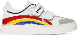 DSQUARED2 Rainbow Leather Sneakers