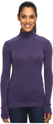 Smartwool - NTS Mid 250 Zip Top Women's Long Sleeve Pullover $100 thestylecure.com