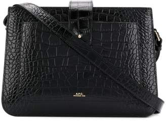 A.P.C. crocodile-embossed crossbody bag