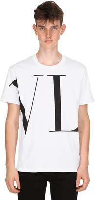 Valentino Vltn Logo Printed Jersey T-Shirt