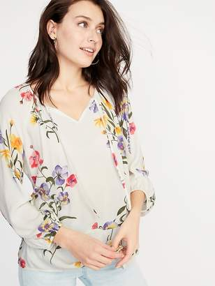 85444555a9a76 Old Navy Floral Crepe Peplum-Hem Swing Blouse for Women