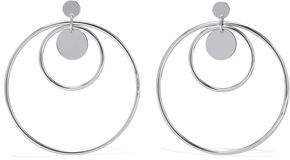 Luv Aj The Disco Fever Silver-Tone Hoop Earrings