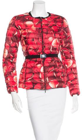 MonclerMoncler Floral Print Down Jacket