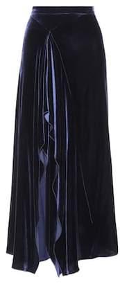 Roland Mouret Haxby velvet skirt