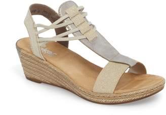 Rieker Antistress Fanni 22 Espadrille Wedge Sandal