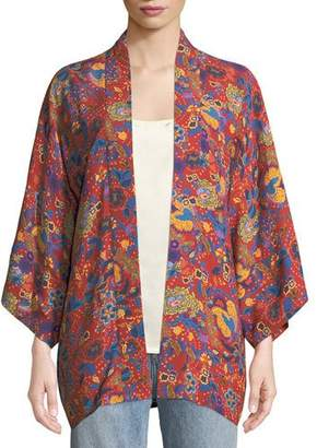 Elizabeth and James Drew Open-Front Floral-Print Kimono