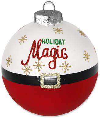 Kat & Annie Set Of 6 Santa's Magic Belt Round Ornaments