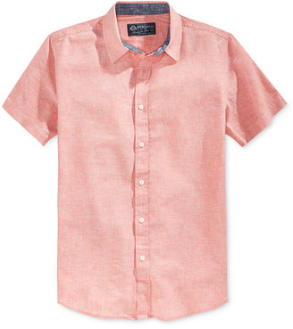 American Rag Men's Short-Sleeve Linen Shirt, Only at Macy's $35 thestylecure.com