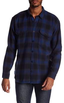 Vince Ombre Buffalo Plaid Trim Fit Shirt