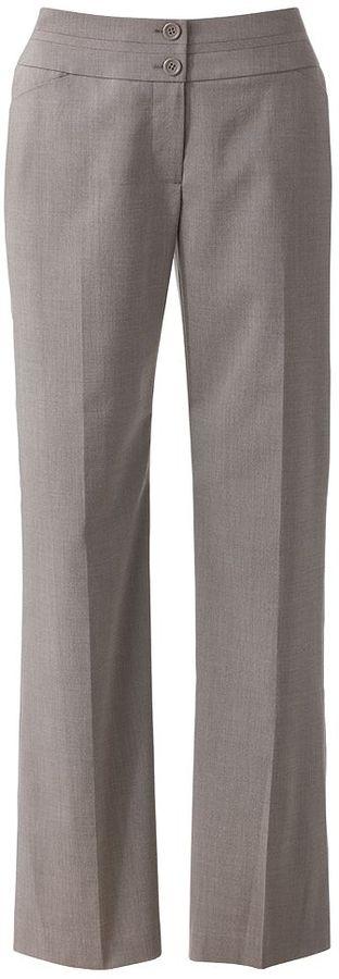 Apt. 9 curvy fit straight-leg trouser pants