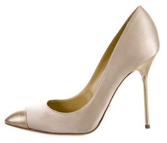 Sergio Rossi Satin Cap-Toe Pumps