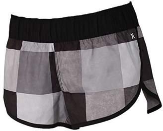 "Hurley Women's Apparel Women's Water-Repellent 2.5"" Plaid Kingsroad Board Shorts"