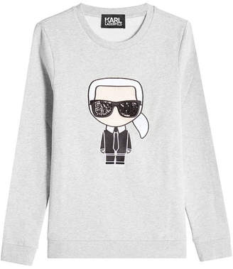 Karl Lagerfeld Embellished Cotton Sweatshirt