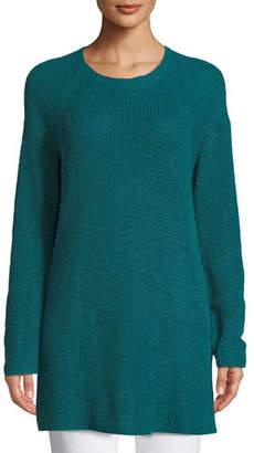 Eileen Fisher Linen Cotton Slub Tunic Sweater