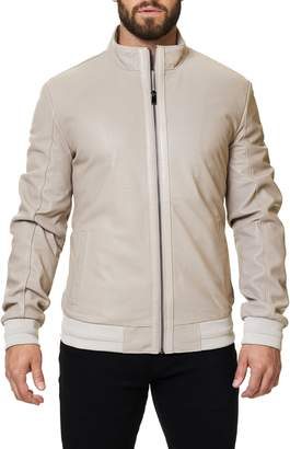 Maceoo Perforated Leather Jacket