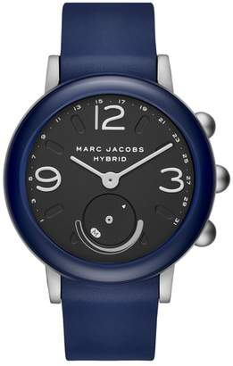 Marc Jacobs Riley Hybrid Rubber Strap Smart Watch, 44mm