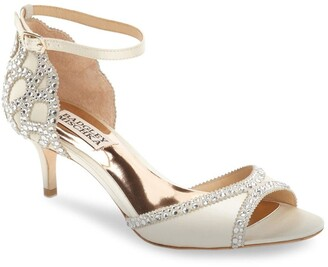Badgley Mischka Collection 'Gillian' Crystal Embellished d'Orsay Sandal