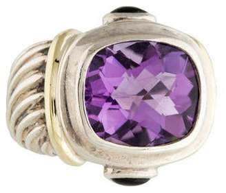 David Yurman Amethyst & Green Tourmaline Cocktail Ring