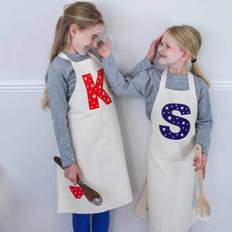 Littlechook Personalised Childrens Clothing Personalised Letter Children's Apron
