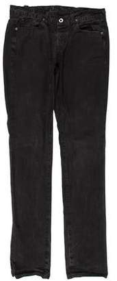 Rick Owens Distressed Flat Front Pants