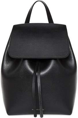 Mansur Gavriel Saffiano Mini Backpack - Black/Flamma