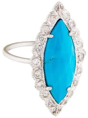 Jacquie Aiche Diamond & Turquoise Cocktail Ring