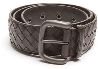 Bottega Veneta Intrecciato Leather 4cm Belt - Mens - Brown