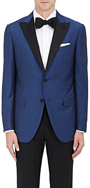 Caruso Caruso Men's Broken-Stripe Wool-Mohair-Silk Two-Button Sportcoat