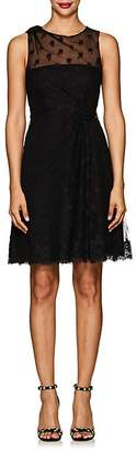 Valentino WOMEN'S FLORAL TULLE A-LINE DRESS