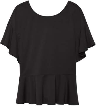 Banana Republic Lace-Up Back Ponte Couture Tee