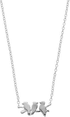 Love This Life love this lifeSterling Silver Triple Bird Necklace