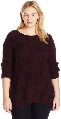 BB Dakota Women's Plus-Size Chealse Chunky Sweater