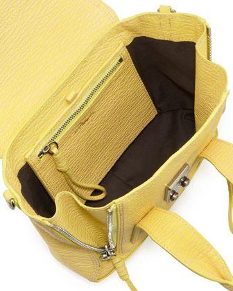 3.1 Phillip Lim Pashli Mini Leather Satchel Bag, Pollen/Buff
