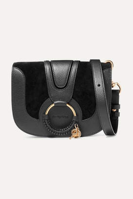 See by Chloe Hana Small Textured-leather And Suede Shoulder Bag - Black