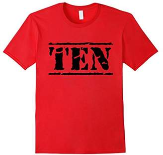 Ten - Distressed 10th Birthday Shirt for Boys & Girls
