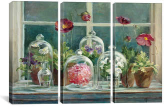 "iCanvas Purple Poppies Windowsill Crop by Danhui Nai Gallery-Wrapped Canvas Print - 40"" x 60"" x 1.5"""