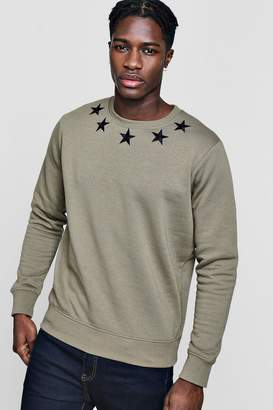 boohoo Star Embroidered Sweater