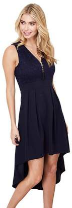 Marjolaine Mela London - Navy Lace 'Marjolaine' Sleeveless Skater Dress
